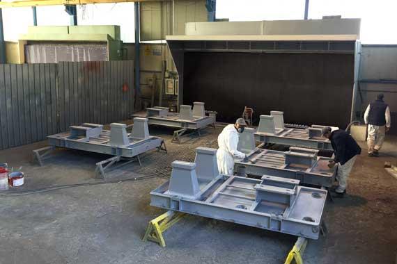 Area 22x22 sabbiatura e verniciatura metalli conto terzi